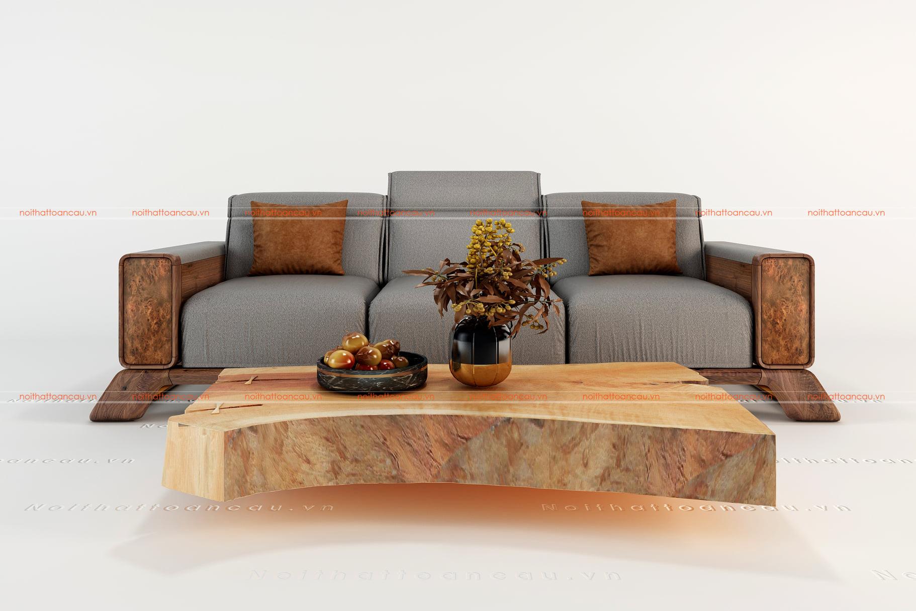 Sofa gỗ chữ i nhỏ cao cấp