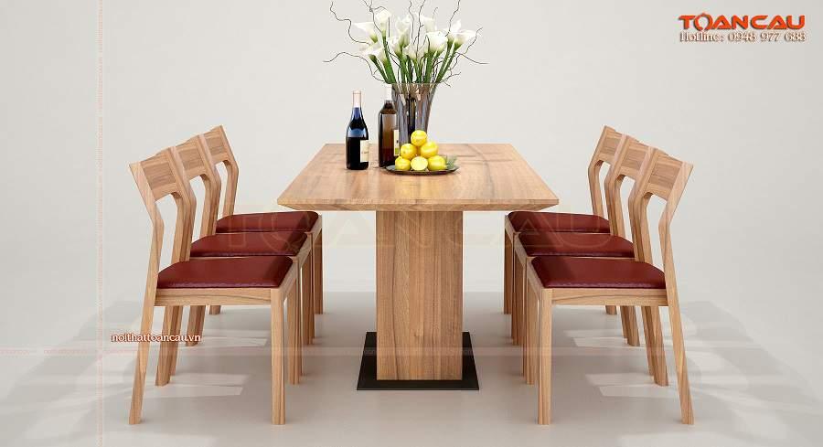 bộ bàn ăn 6 ghế gỗ xoan đào như ý