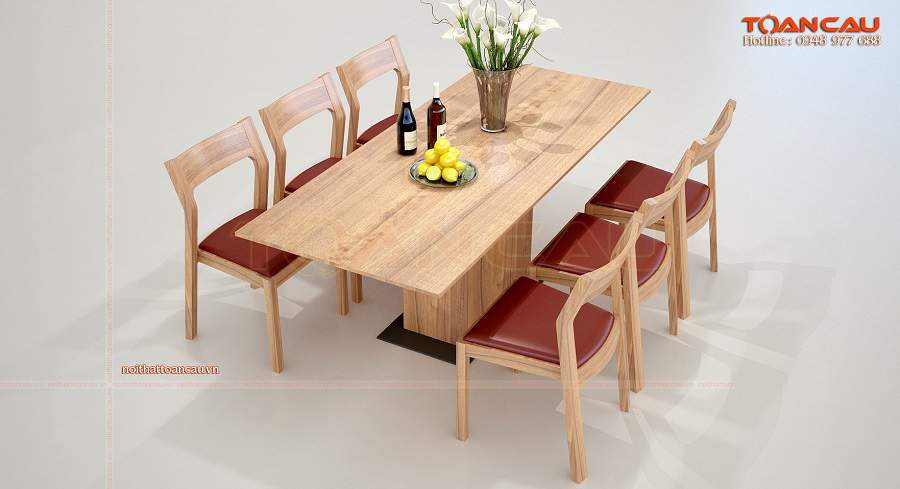Bàn ghế ăn gỗ sồi ưng ý