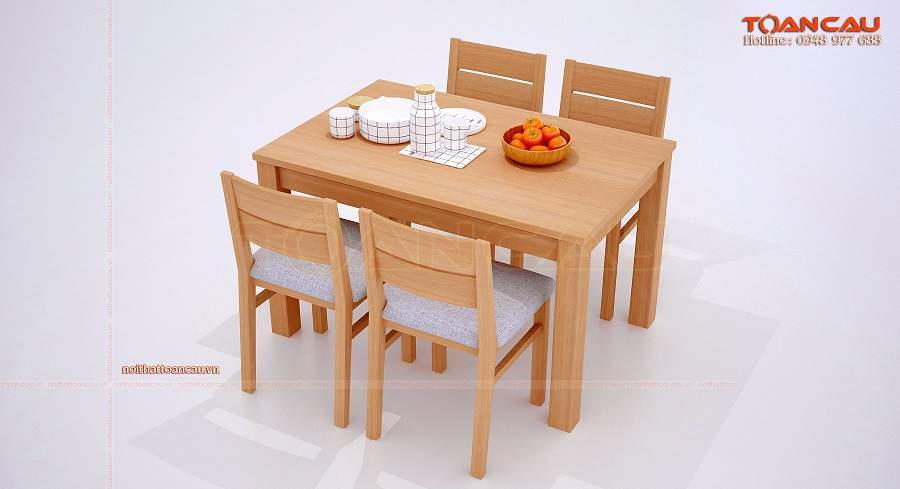 Bàn ăn cho chung cư nhỏ thiết kế đơn giản