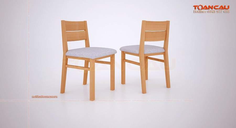Bàn ăn gỗ sồi nga 4 ghế hiện đại