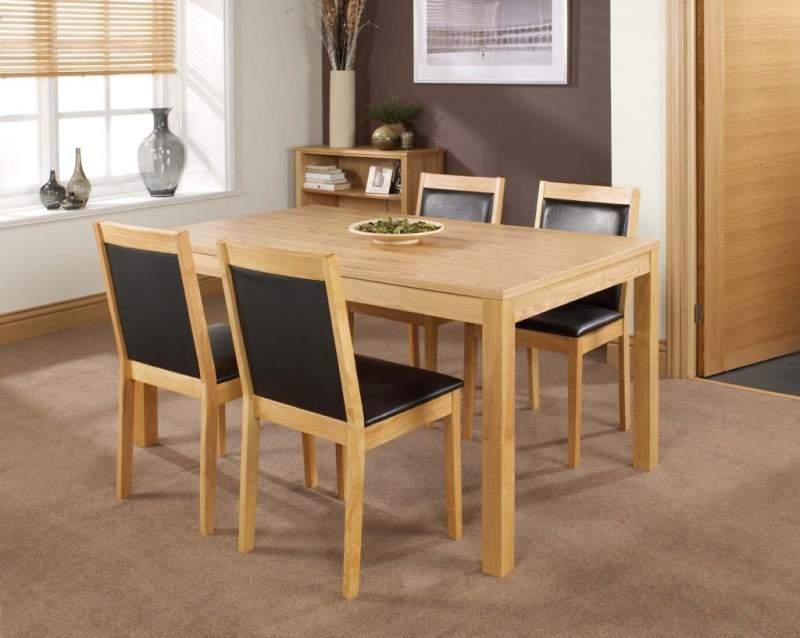 Mẫu bàn ăn gỗ cao su – TC13112