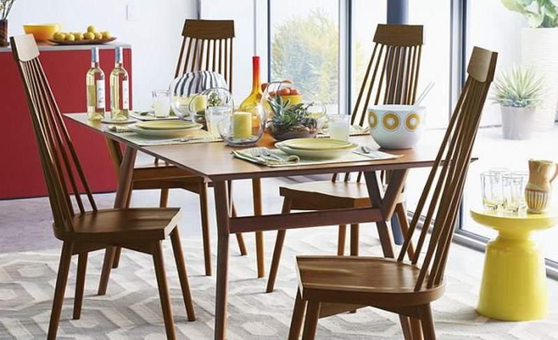 Mẫu bàn ăn gỗ công nghiệp - TC12324