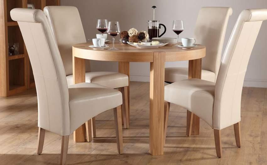 Bàn ghế ăn hình tròn – TC15192