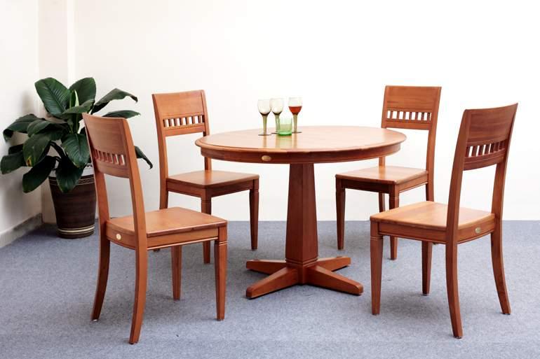 Bàn ghế ăn hình tròn – TC15196