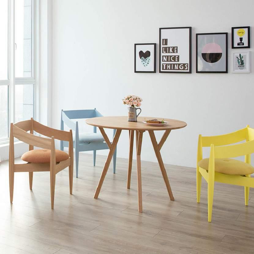 Bàn ghế ăn hình tròn – TC15198