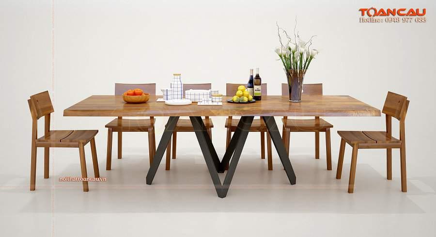 Bộ bàn ăn 6 ghế giá rẻ tiện ích