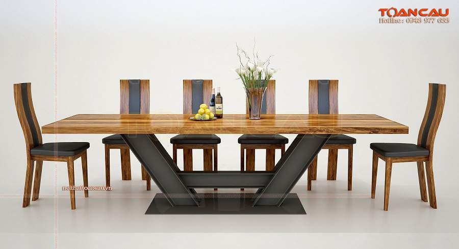 bộ bàn ăn 6 ghế hiện đại tinh tế