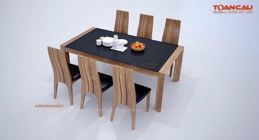 Bàn ghế ăn hiện đại gỗ óc chó đẹp tinh tế– TC841