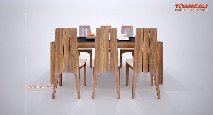 Bàn ghế ăn hiện đại gỗ óc chó tại Toàn Cầu