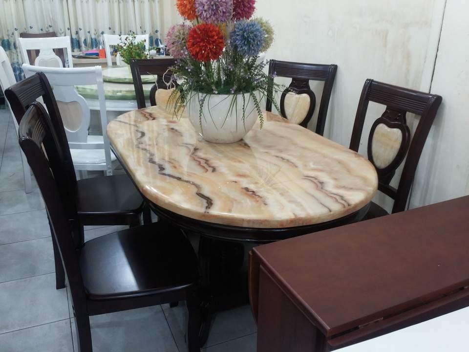 Mẫu bàn ăn mặt đá đẹp – TC13147