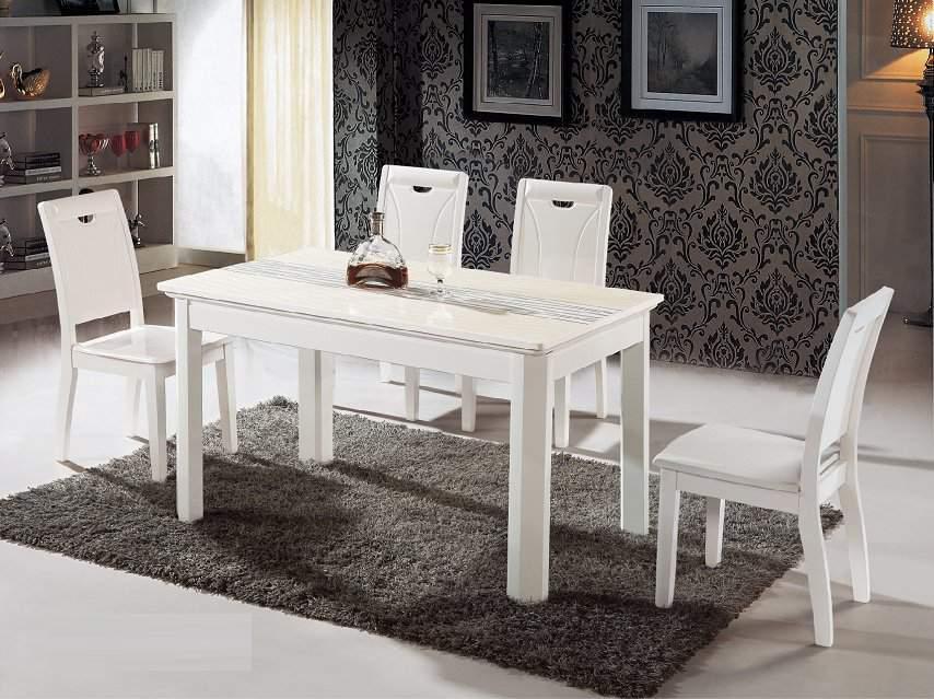 Mẫu bộ bàn ăn màu trắng – TC14142