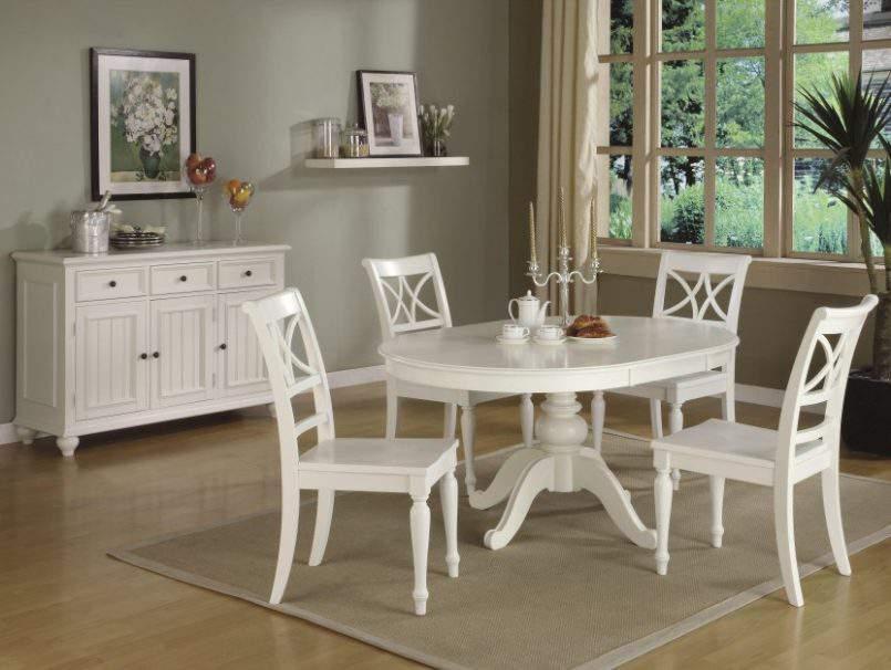 Mẫu bộ bàn ăn màu trắng – TC14147