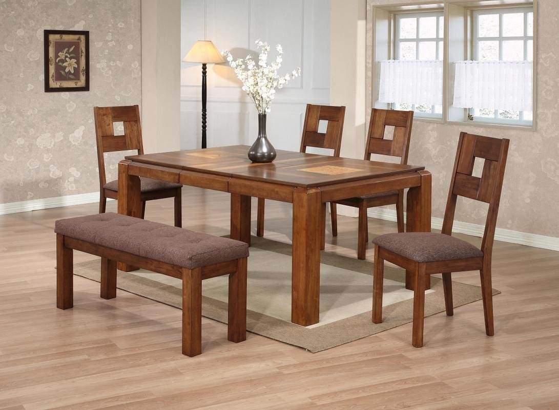 Mẫu bàn ghế ăn bằng gỗ cao cấp – TC17111