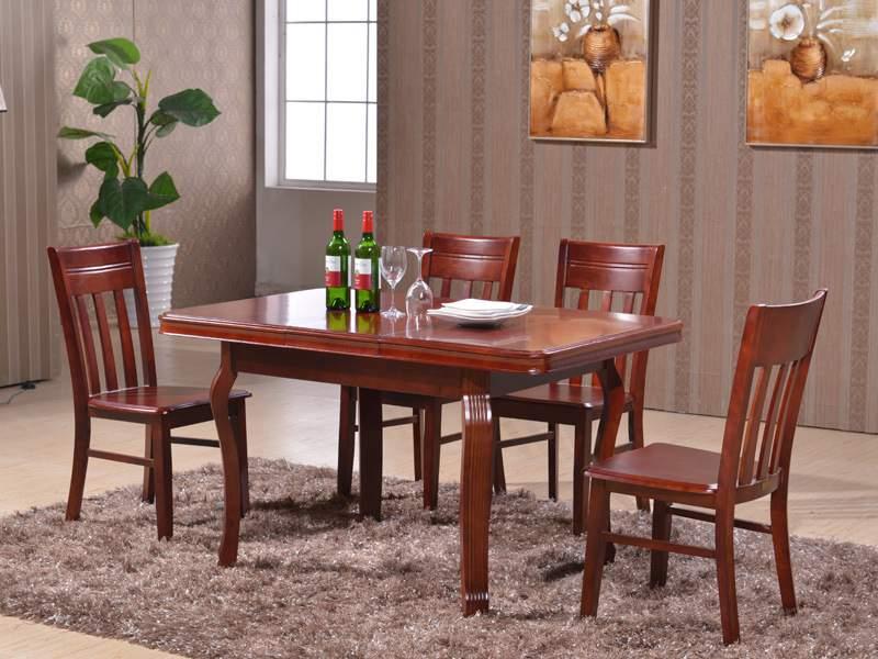 Mẫu bàn ghế ăn bằng gỗ cao cấp – TC17115