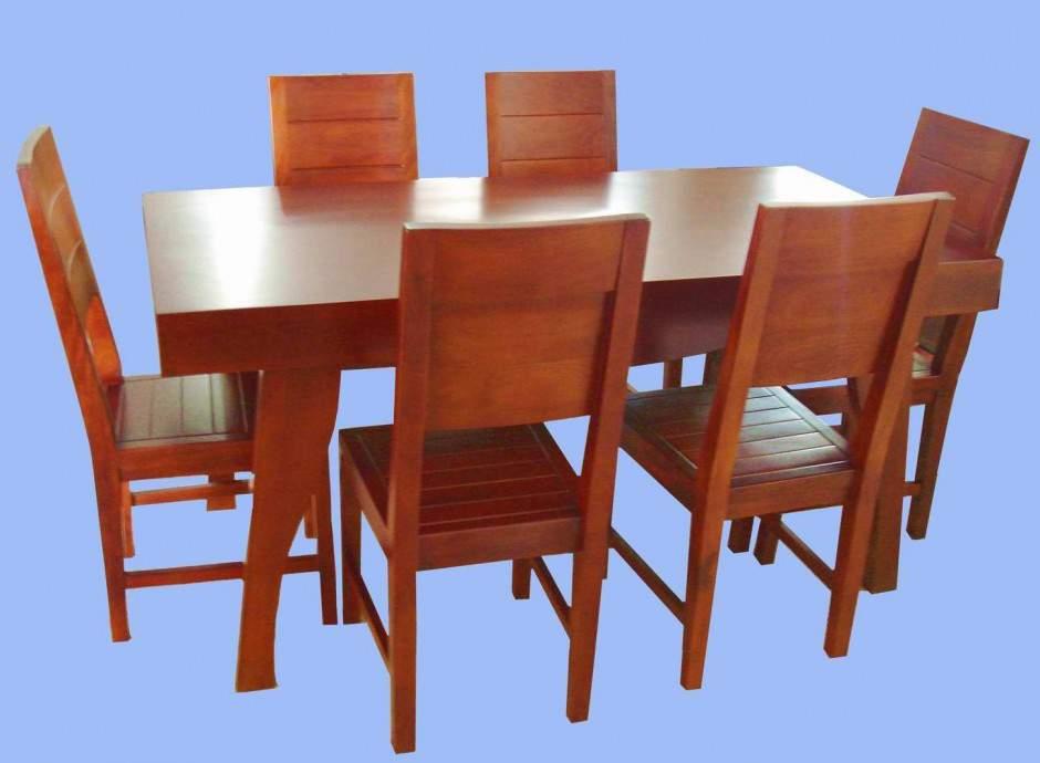 Mẫu bàn ghế ăn gỗ hương – TC19163