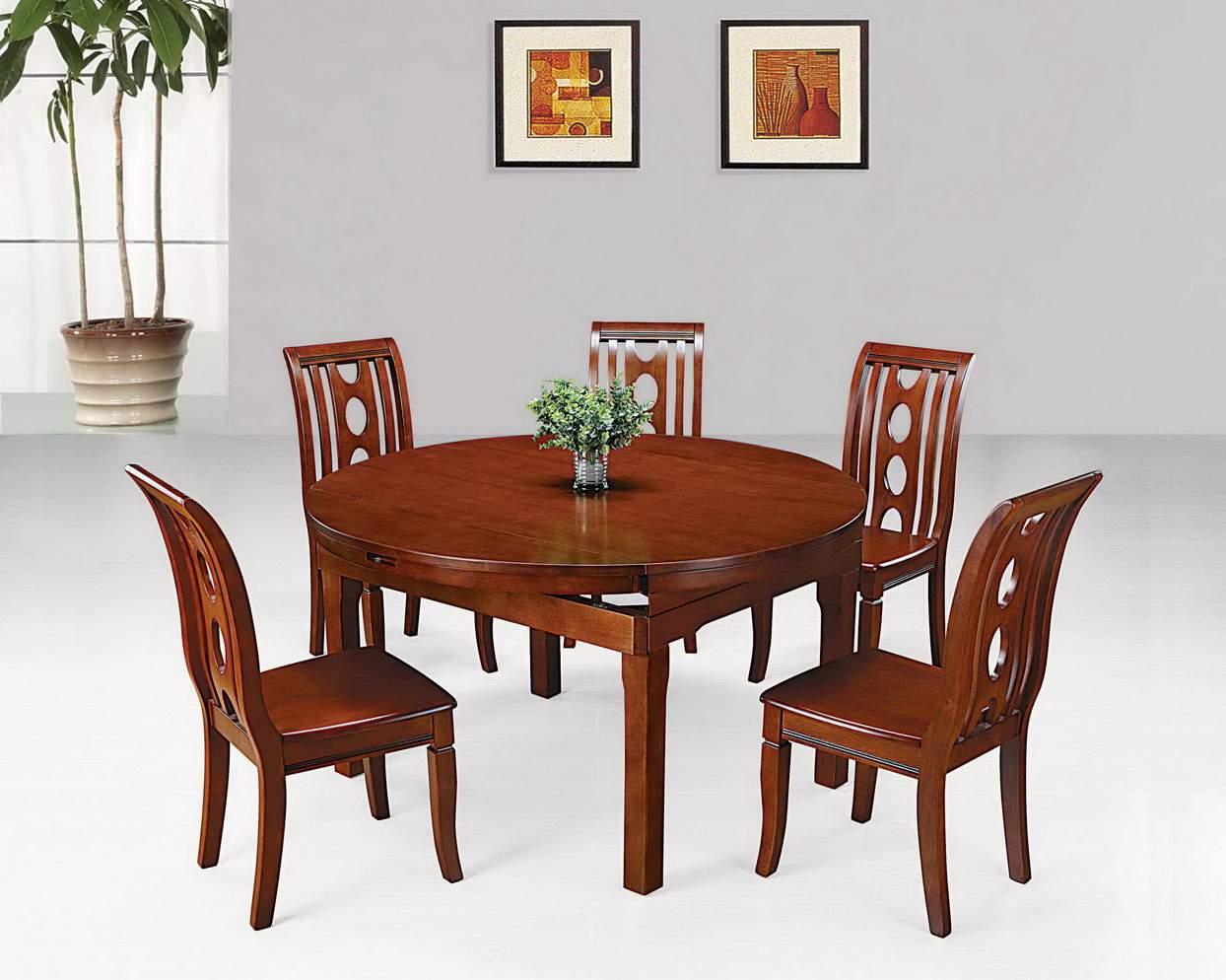 Mẫu bàn ghế ăn gỗ hương – TC19166