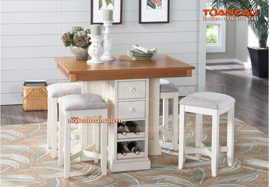 mẫu bàn ăn gỗ