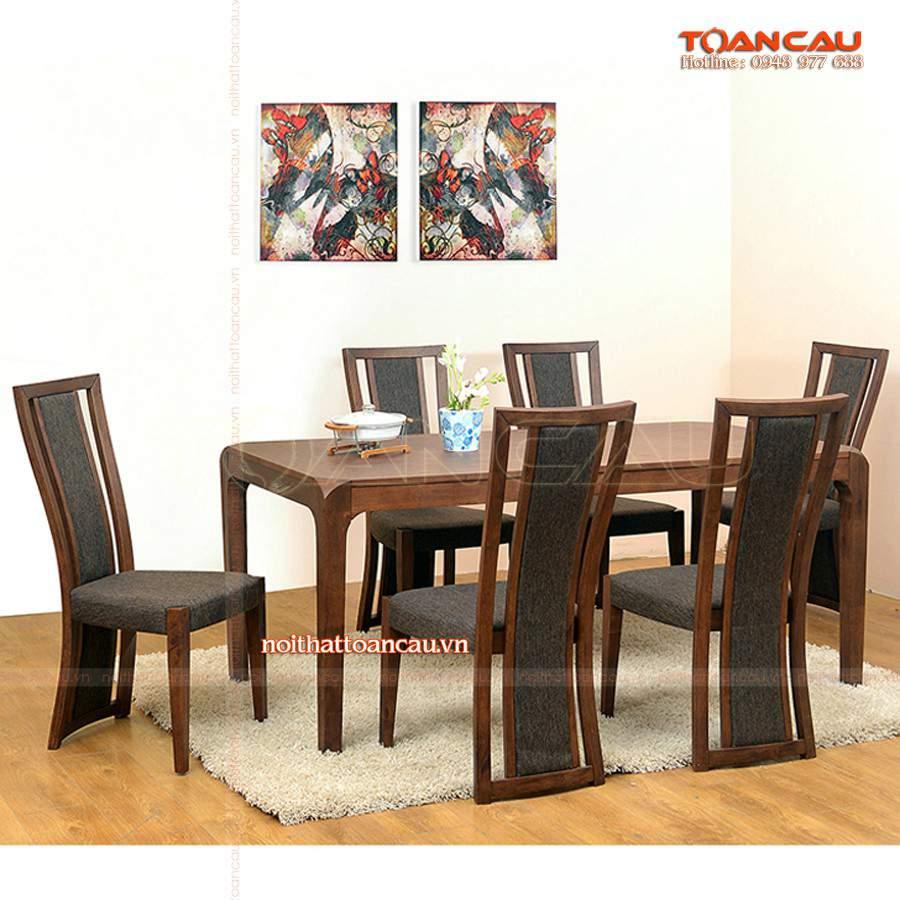 Bàn ghế ăn gỗ giá rẻ tại hà giang sang trọng