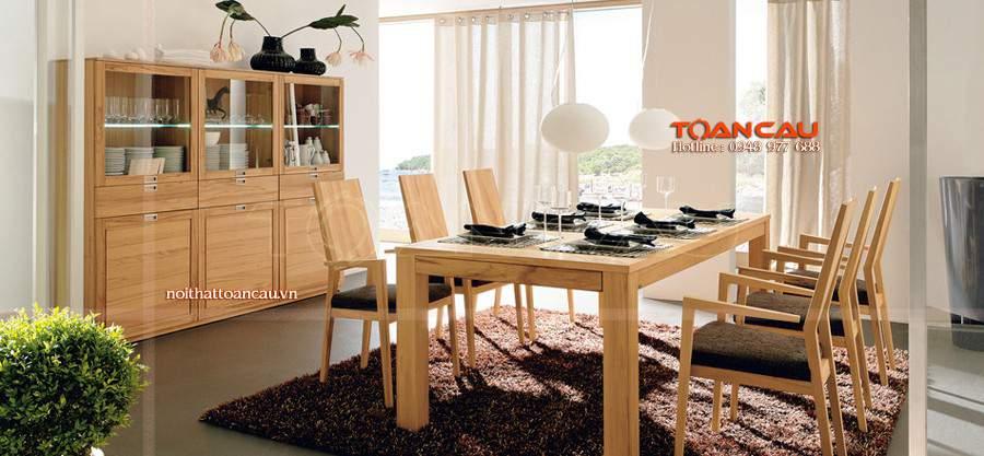 bàn ăn đẹp bằng gỗ