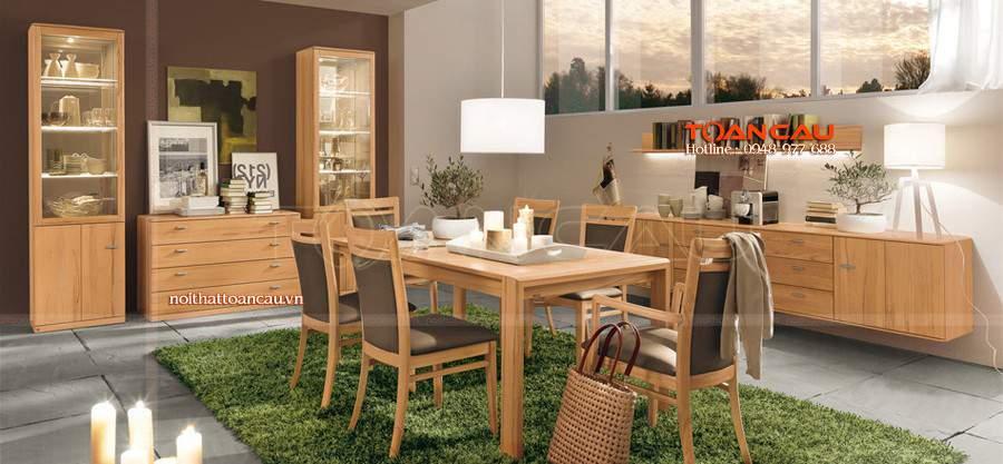 Mẫu bàn ăn bằng gỗ, ghế bàn ăn đẹp được ưa chuộng nhất hiện nay, bàn ghế thiết kế đẹp, sang trọng nhất