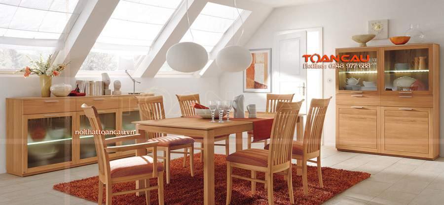 bộ bàn ăn bằng gỗ cao cấp
