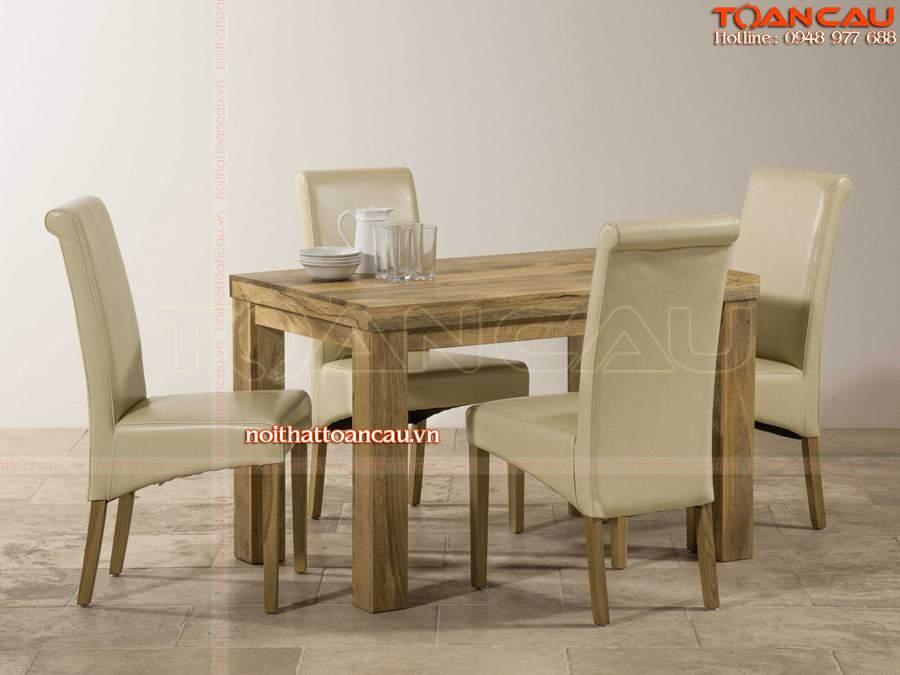 Bàn ghế ăn gỗ tự nhiên giá rẻ tại hà giang sang trọng