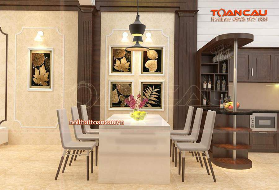 Mẫu bàn ăn đẹp giá rẻ cung cấp tại Công ty nội thất Toàn Cầu, bảo hành lâu dài khi sử dụng