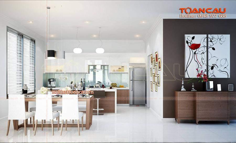 Những mẫu bàn ghế ăn cho chung cư nhỏ - T011 được thiết kế và thi công tại Công ty nội thất Toàn Cầu.