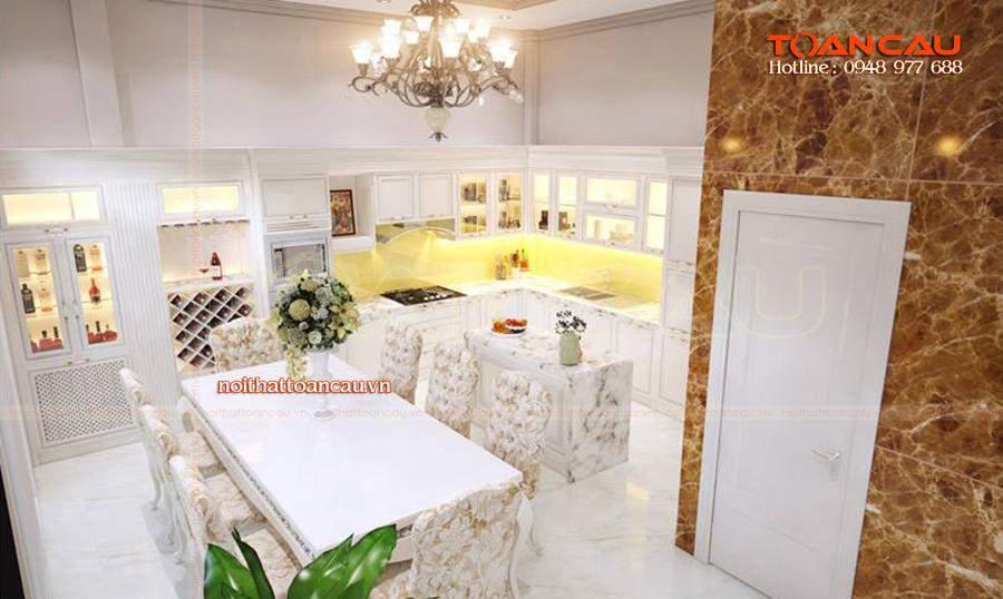 Thiết kế bộ bàn ăn phong cách Châu Âu, hiện đại - T013 được các gia đình lựa chọn nhiều nhất hiện nay