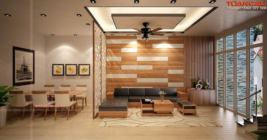 bàn ghế gỗ tông màu trầm