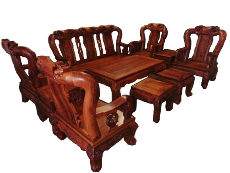 Mẫu bàn ghế gỗ cẩm lai – TC18133