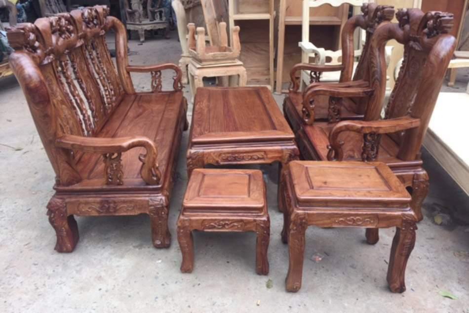 Mẫu bàn ghế gỗ cẩm lai – TC18135