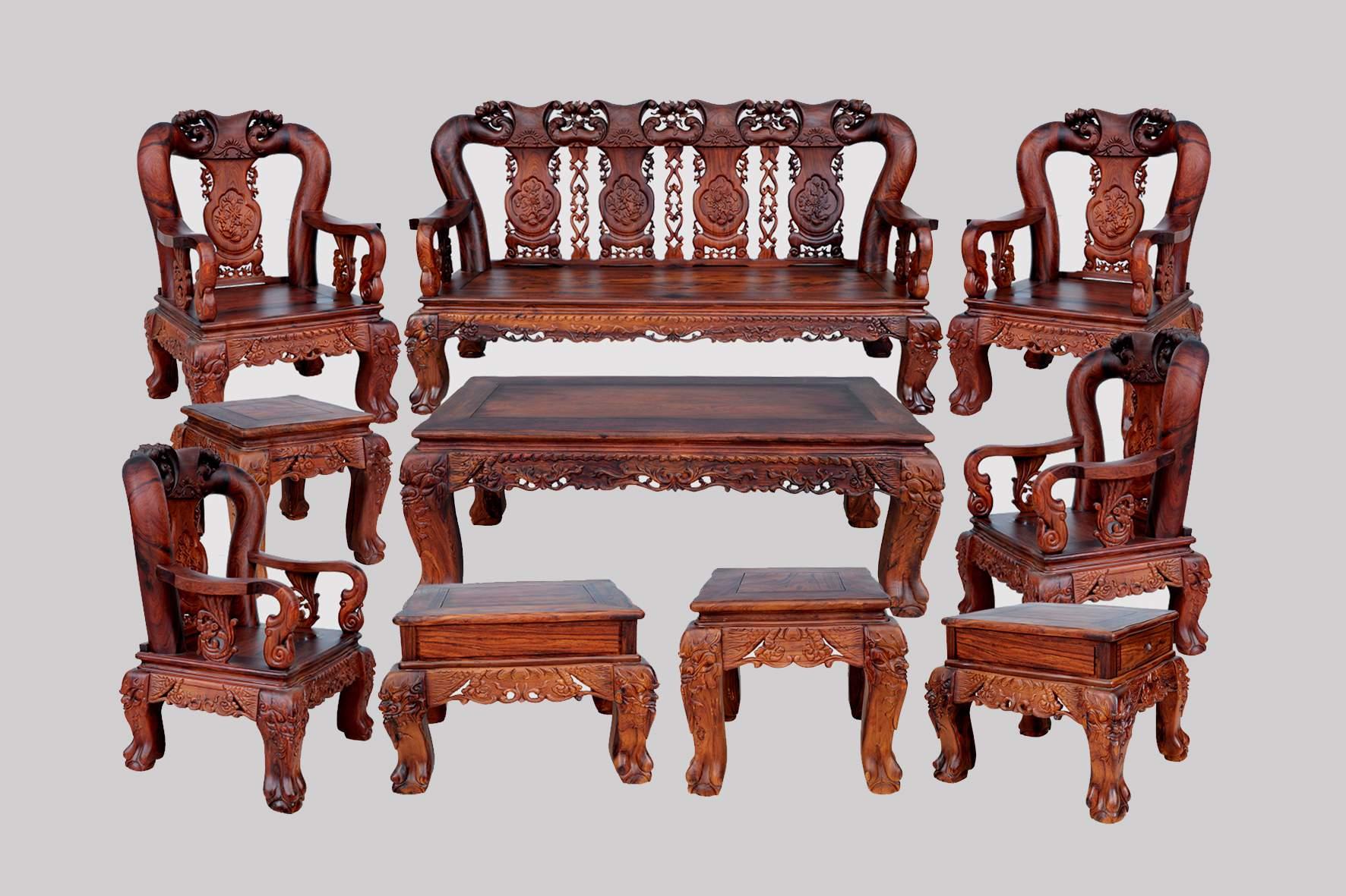 Mẫu bàn ghế gỗ cẩm lai – TC18137