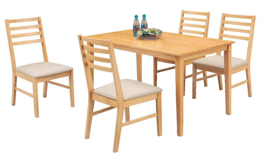Bàn ghế gỗ cao su cho bữa cơm thân mật