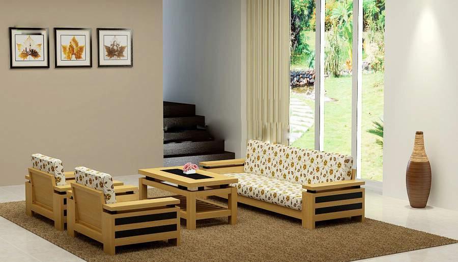 Mẫu bàn ghế gỗ cao su – TC19131