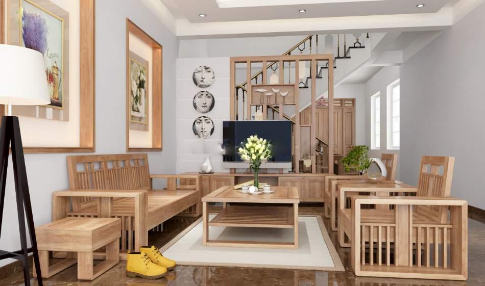 Mẫu bàn ghế gỗ cao su – TC19138
