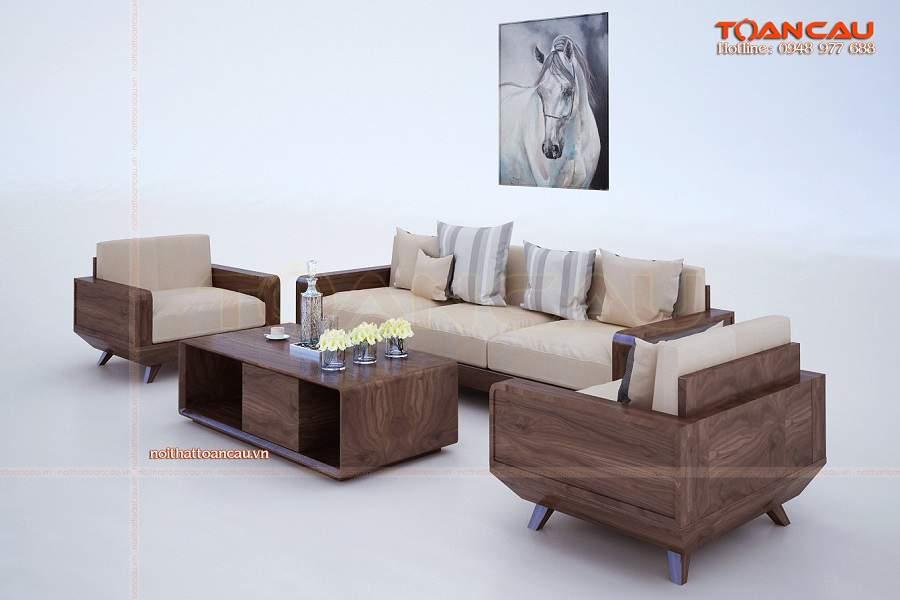Thiết kế nội thất phòng khách bằng gỗ công nghiệp cực đẹp