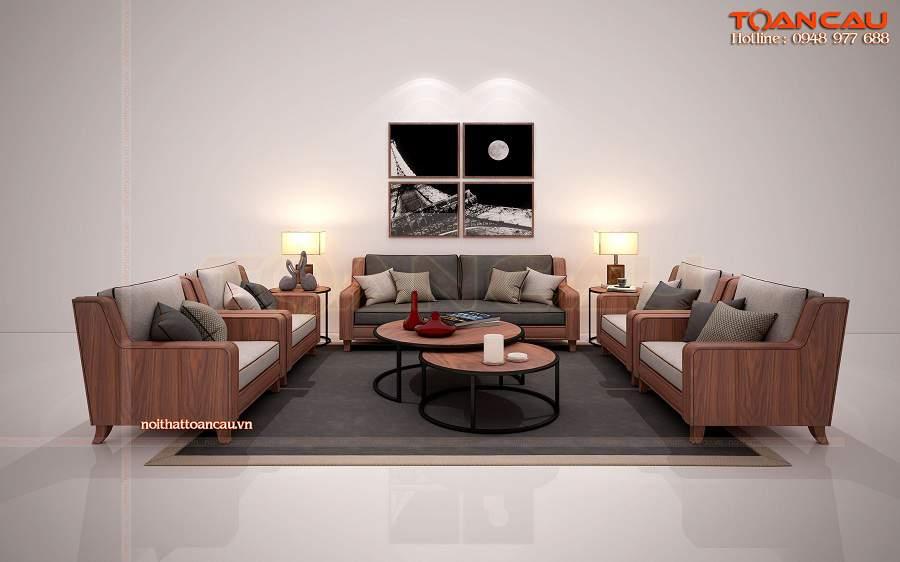 Thiết kế nội thất phòng khách bằng gỗ công nghiệp hiện đại và sang trọng
