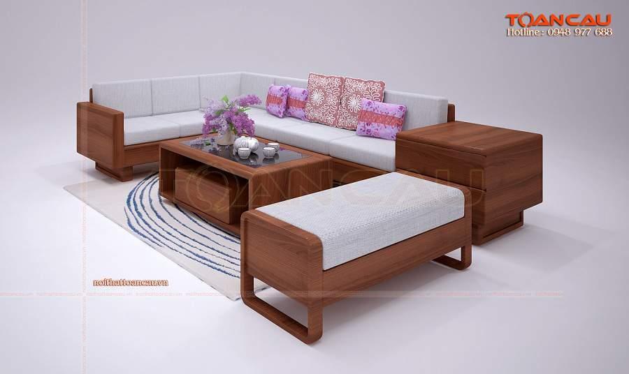 Bộ bàn ghế gỗ phòng khách giá rẻ hiện đại