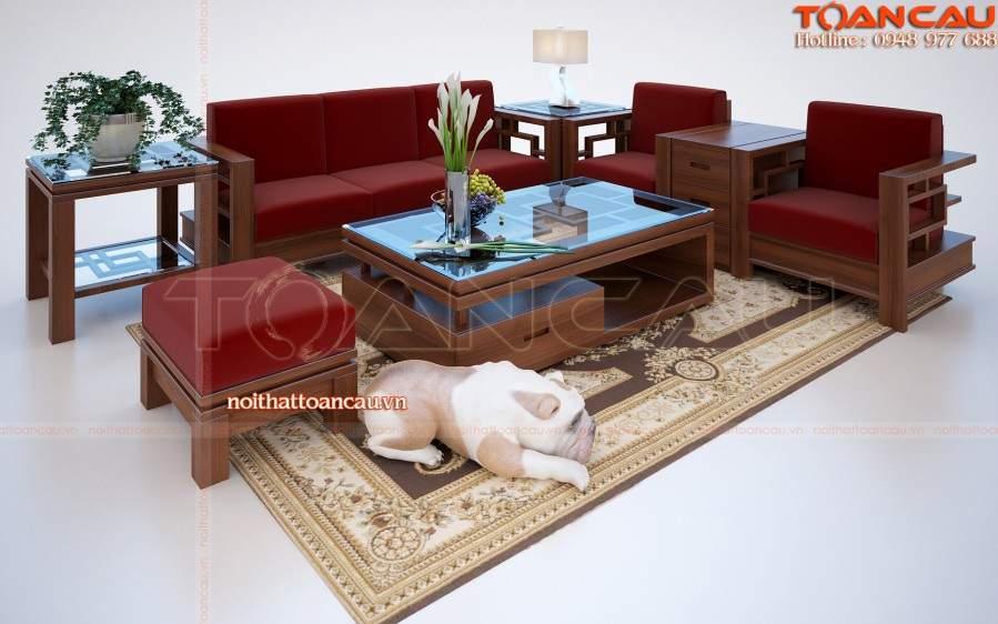 Bàn ghế gỗ hương TC107