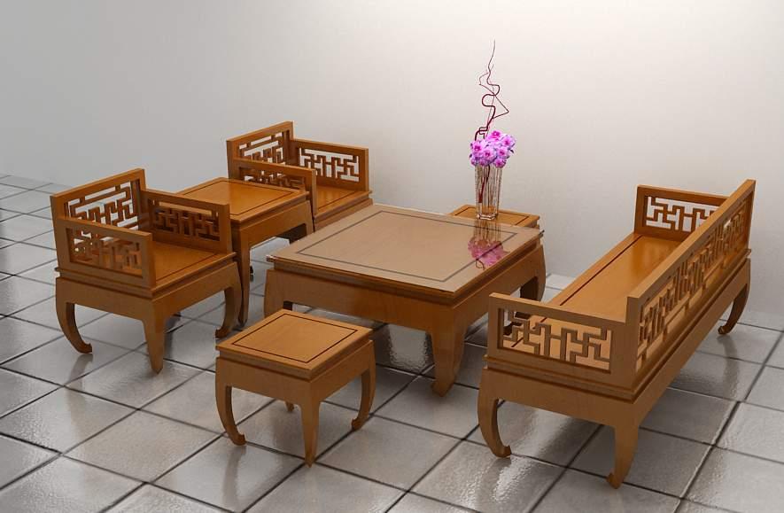 Bàn ghế gỗ hương TC18111