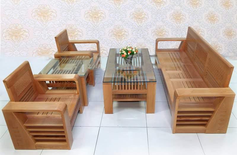 Mẫu bàn ghế gỗ lim - TC18126