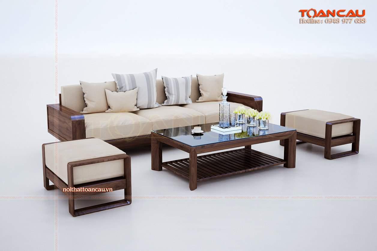 Những mẫu bàn ghế gỗ phòng khách đẹp hiện đại