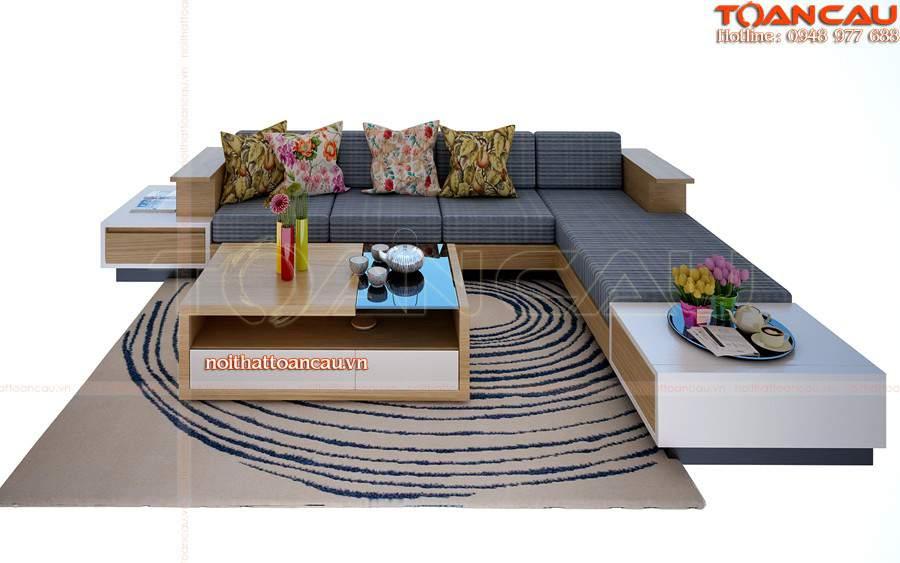 Bàn ghế gỗ phòng khách dưới 10 triệu cho nhà xinh