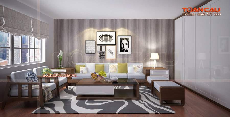 Nhà đẹp với mẫu bàn ghế gỗ tràm hiện đại