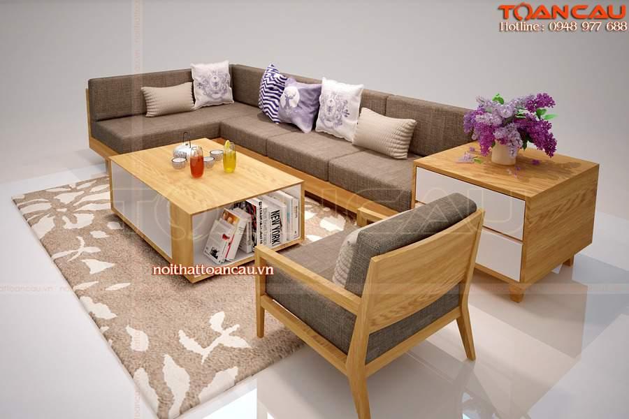 Bàn ghế phòng khách gỗ tràm đẹp tinh tế