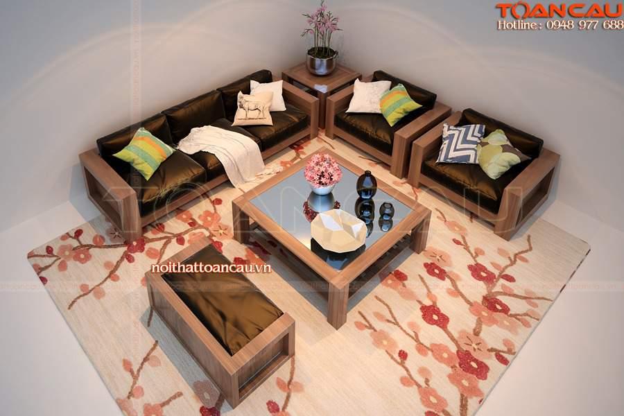 Bàn ghế gỗ tràm hiện đại, phù hợp nhà nhỏ