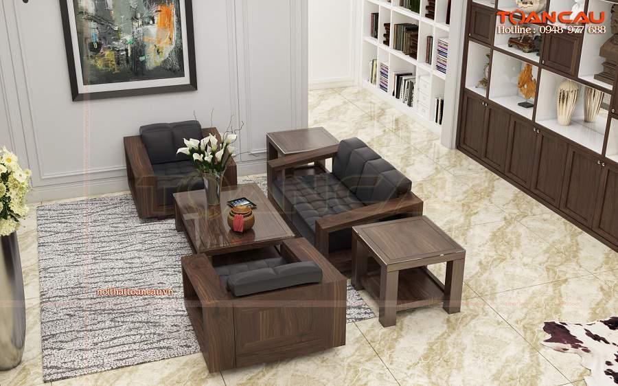 Nhà đẹp thiết kế nội thất bằng gỗ óc chó