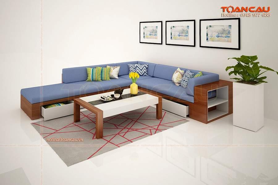 Bàn ghế gỗ phòng khách giá bình dân, bàn ghế phòng khách nhỏ gọn hiện đại